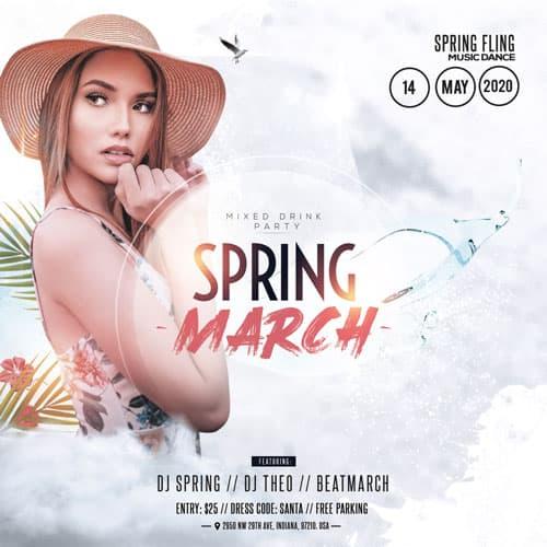 Free Spring Begins Instagram Template