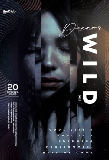 Free Wild Dreams Event Flyer Template