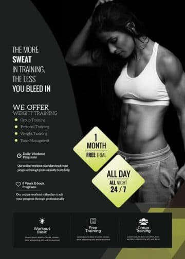Fat Burns Free Fitness Flyer PSD Template