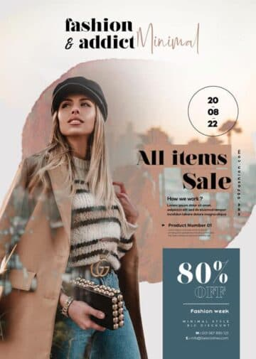 Free Autumn Fashion Collection Flyer Template