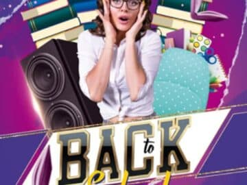 Free Back To School Party Flyer Template