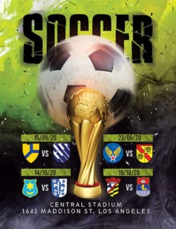 Free Champions League Soccer Flyer Template
