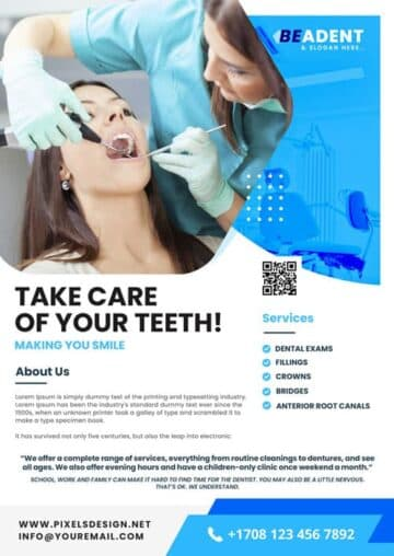 Free Dental Service PSD Flyer Template