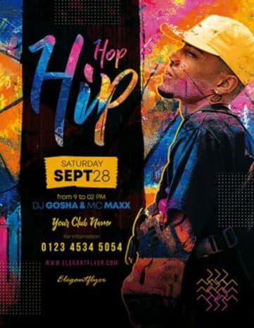 Free Hip Hop Event Flyer Template