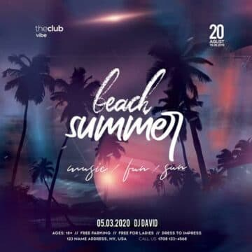 Beach Night Event Free Instagram Template