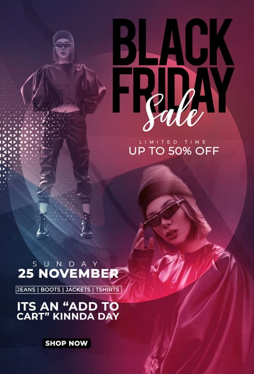 Black Friday Sale Free Flyer PSD Template