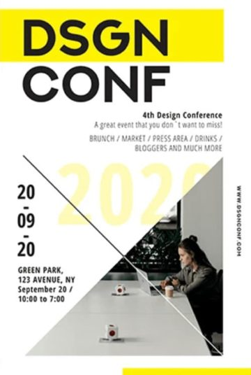 Design Conference Free Flyer Template