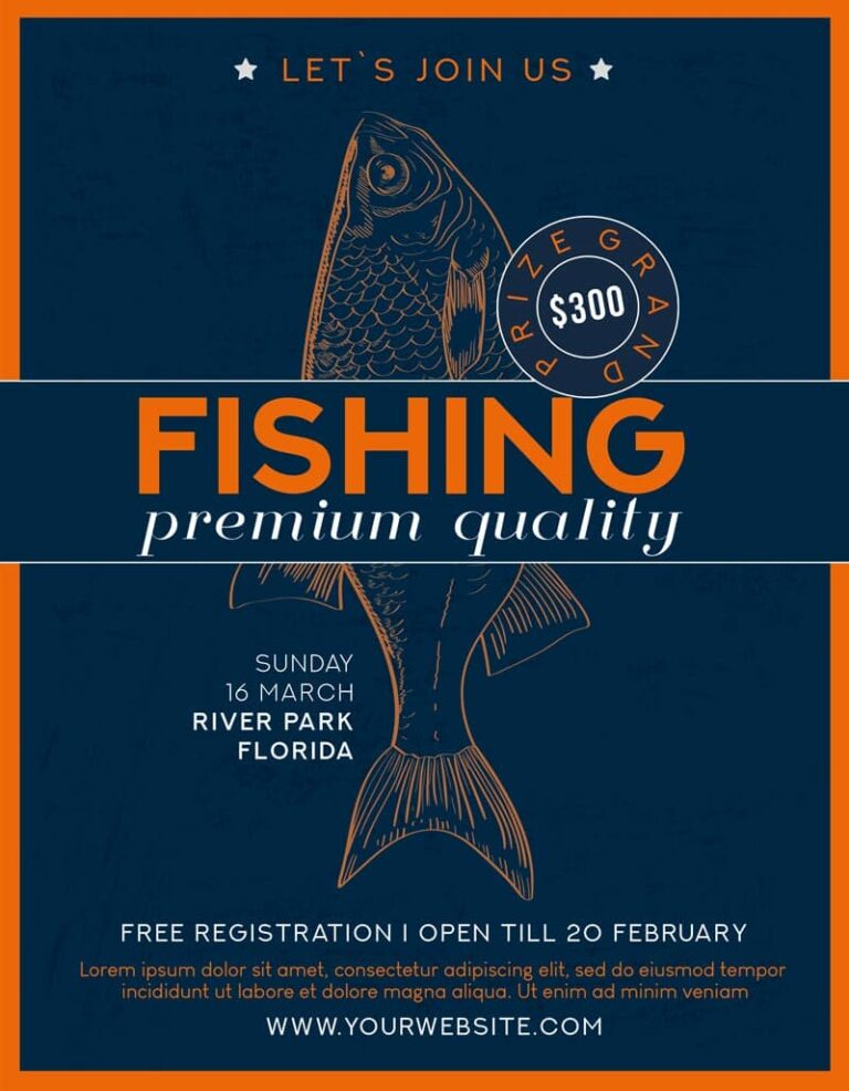 Fishing Tournament Free Flyer Template