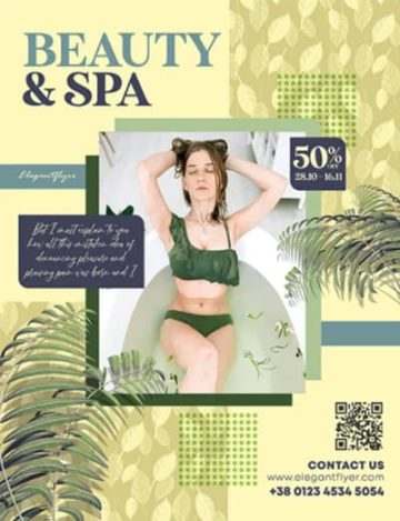 Free Beauty & Spa Flyer Template