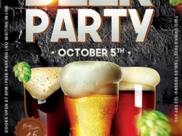 Free Beer Event PSD Flyer Template