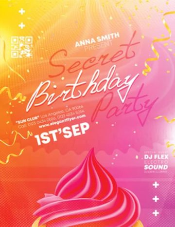 Free Birthday Party Flyer Template