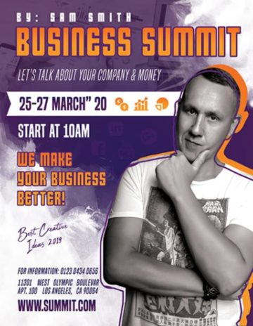 Free Business Summit PSD Flyer Template