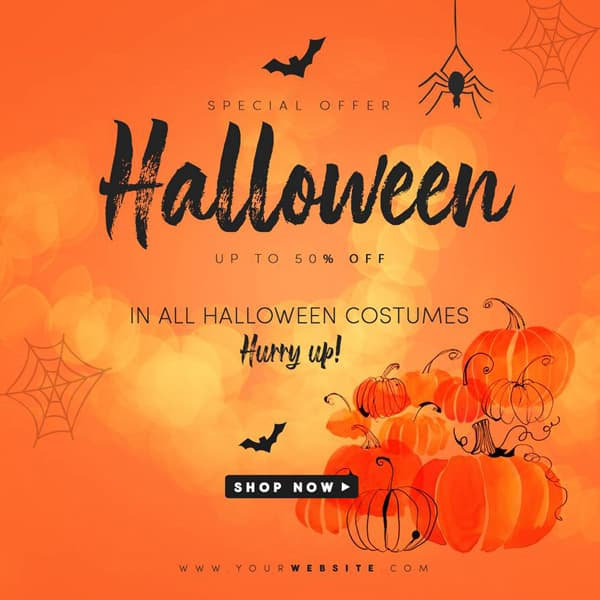 Free Halloween Instagram Post TemplateFree Halloween Instagram Post Template