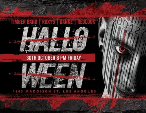 Free Horizontal Halloween Flyer Template