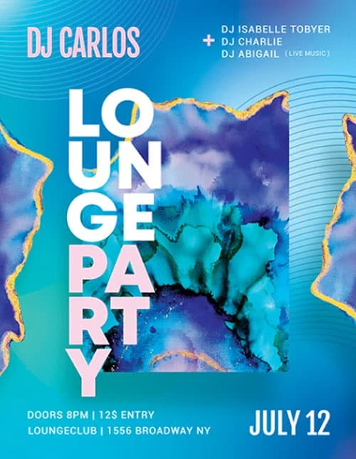 Free Lounge Club Party Flyer Template