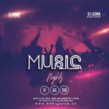 Free Music Night Instagram Template