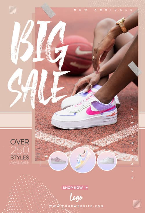 Free Shoes Sale Flyer Template