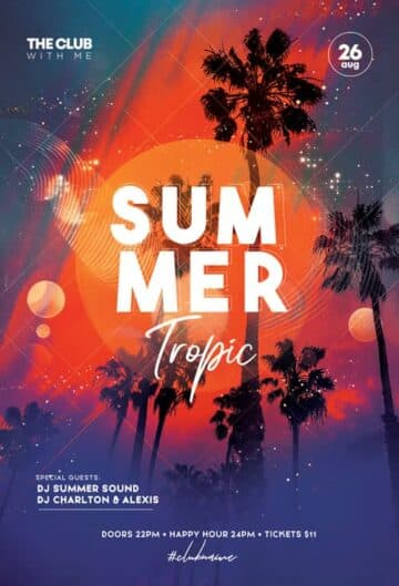 Free Tropic Summer Party Flyer Template