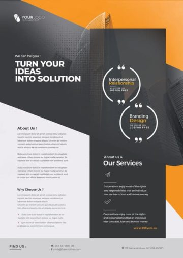 Service Agency Free PSD Flyer Template