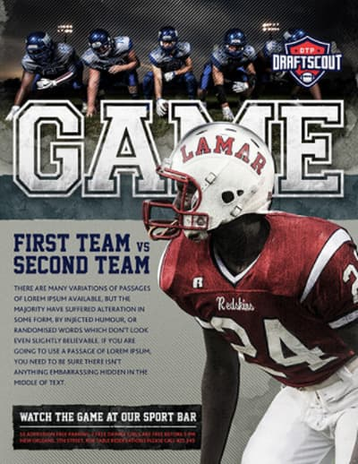 American Football Free Flyer Template