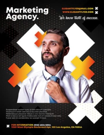 Free Marketing Agency Flyer Template