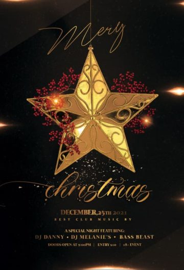 Christmas Eve Free Flyer Template