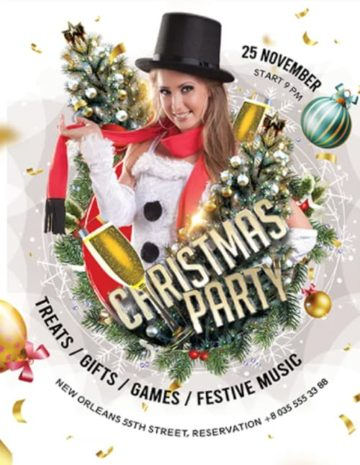 Christmas Free Party Flyer Template
