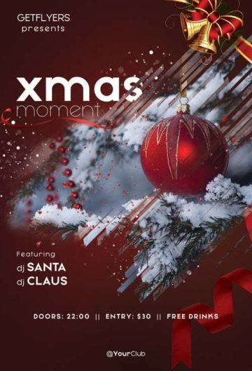 Christmas Moments Free Flyer PSD Template