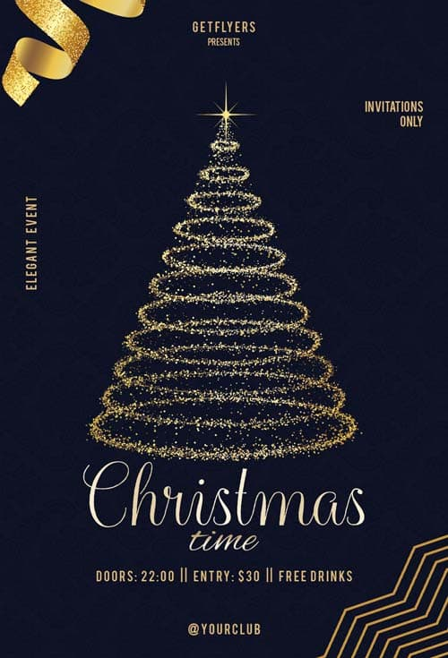 Christmas Time Free Flyer PSD Template