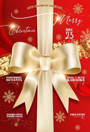 Elegant Christmas Event Free PSD Flyer