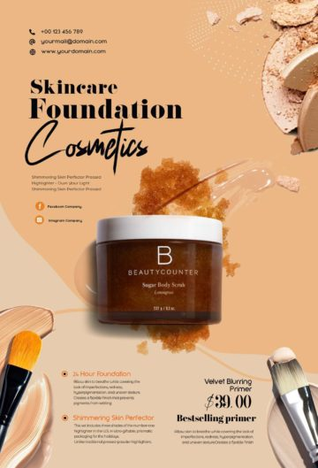 Free Beauty Care Products Flyer Template