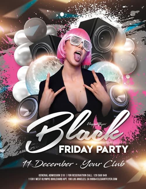 Free Black Friday Party Flyer Template
