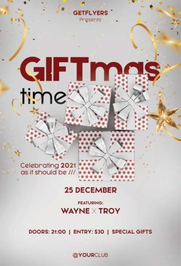 Free Giftmas Time PSD Flyer Template