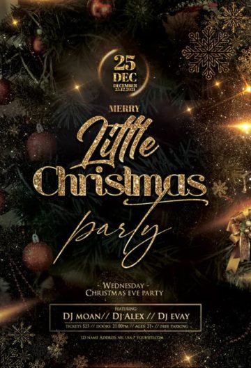 Little Christmas Party Free Flyer Template