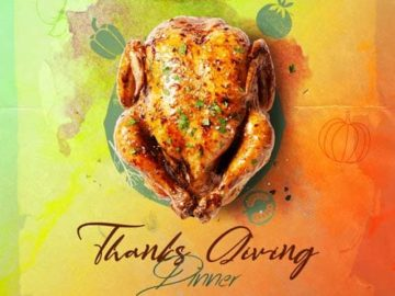 Thanksgiving Day Dinner Free PSD Flyer Template