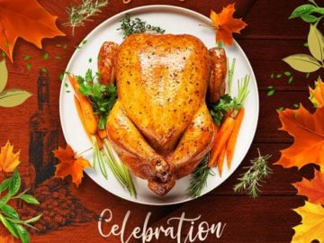 Thanksgiving Dinner Free PSD Flyer Template