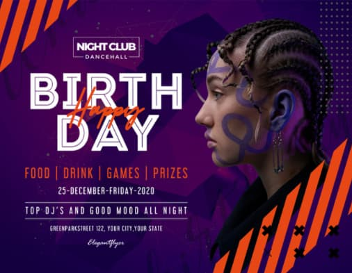 Free Birthday Event Flyer Template
