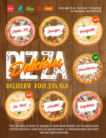 Free Pizza Delivery Flyer Template