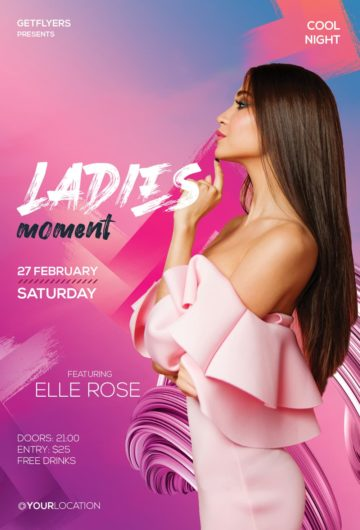Ladies Club Free Flyer Template