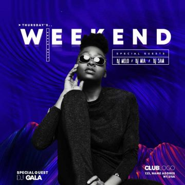 Club House Weekend Free Instagram Template