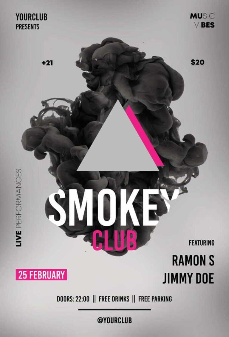 Electro Smoke Free PSD Flyer Template