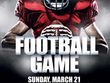 Free American Football Game PSD Flyer Template