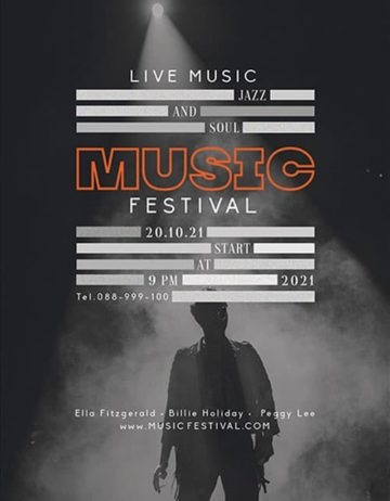 Free Music Event Flyer PSD Template