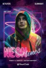 Free Neon Lights Party Flyer Template