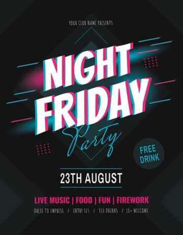 Friday Night Free Party Flyer Template