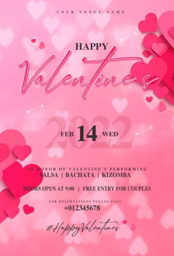 Happy Valentine's Day Free Flyer Template