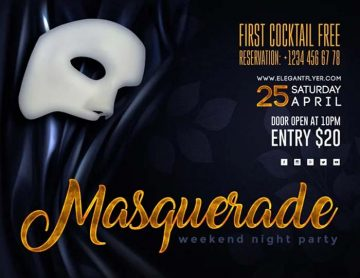 Masquerade Event Free Flyer Template