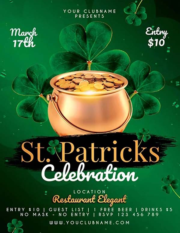 St. Patricks Day Celebration Free Flyer Template