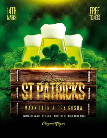 St Patricks Day Free Flyer Template
