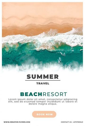 Summer Resort Promotional Free Flyer Template